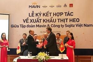 Việt Nam lần đầu xuất khẩu chính ngạch thịt lợn tươi