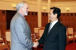 Thủ tướng tiếp Đoàn các đại biểu Hoa Kỳ đến VN