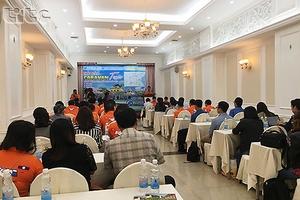 """Họp báo giới thiệu chương trình du lịch caravan với chủ đề """"Hành trình qua các kinh đô Việt – Lào""""."""