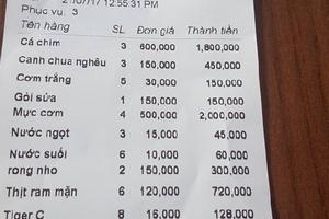 """Đà Nẵng: Quản lý thị trường """"sờ gáy"""" quán ăn bị du khách tố """"chặt chém"""""""