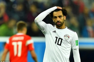 Salah ghi bàn, Ai Cập vẫn thua đậm Nga, sắp bị loại khỏi World Cup 2018