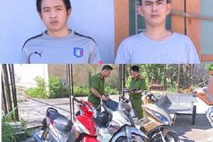 Khởi tố 2 đối tượng trộm cắp xe máy liên tỉnh