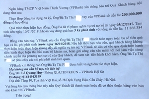 """Tan nát gia đình vì kiểu """"đòi nợ"""" của VP Bank"""