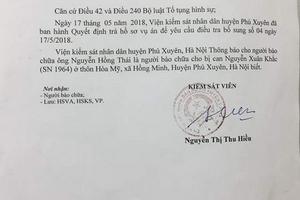 Phú Xuyên, Hà Nội: Một bị can lừa đảo được tại ngoại gửi đơn kêu cứu