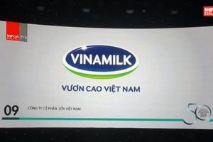 Vinamilk liên tục nhận được bình chọn xuất sắc trong kinh doạnh