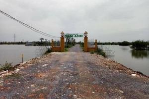 """Công trình vi phạm hành lang đê: Quận Dương Kinh có """"bật đèn xanh"""" cho vi phạm tồn tại?"""
