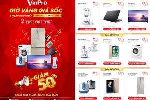 Điện máy Vinpro giảm sốc 50% cùng World Cup