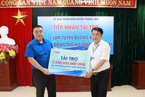 TNG Holdings Việt Nam tài trợ làm đường nông thôn tại Hà Nam