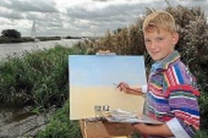 Tuổi thơ khác thường của thần đồng hội họa sở hữu gia tài 60 tỷ đồng