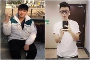 Tập thể hình kèm ăn kiêng, chàng cảnh sát giảm ngoạn mục từ 110kg xuống 75kg