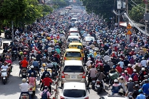 Có thể cấm xe máy từ năm 2030?