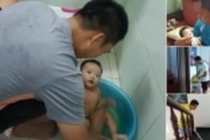 Ông chồng đáng mơ ước của năm: Hạnh phúc khi giúp vợ chăm con, làm việc nhà
