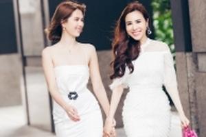 Ngọc Trinh dạo phố cùng hoa hậu áo dài Hoàng Dung