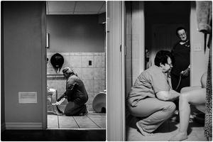 Bức hình y tá ân cần đỡ sản phụ đi vệ sinh khiến nỗi ám ảnh sau sinh trở nên dịu dàng