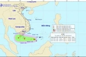 Áp thấp nhiệt đới gây mưa lớn, nguy cơ có lốc xoáy, vòi rồng ở Nam Bộ