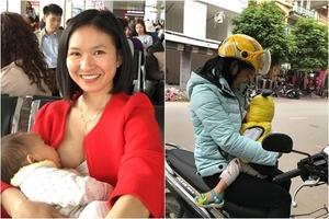 'Phản cảm sẽ đúng khi vạch áo, khoe ngực nơi công cộng mà không có con bên cạnh'
