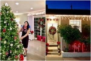 Ngôi nhà vườn trang trí đẹp lung linh đón Giáng sinh của nữ bác sĩ Việt ở Mỹ