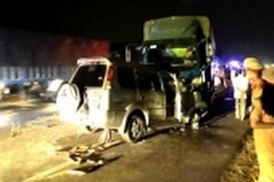 Trưởng công an thị trấn tử vong sau tai nạn đối đầu xe tải