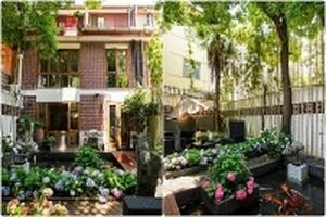 Nhà phố đẹp bình yên bên vườn cây xanh trong hẻm thách thức nắng nóng trên 40 độ C