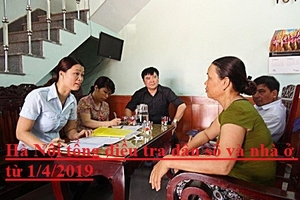 Hà Nội tổng điều tra dân số và nhà ở từ 1/4/2019