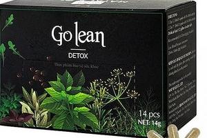 Chứa chất cấm Sibutramin, 2 lô thực phẩm Go Lean Detox bị thu hồi khẩn