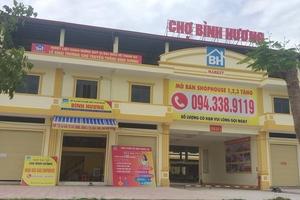 Bất cập ở chợ Bình Hương, Hà Tĩnh: Nhiều dấu hiệu lừa đảo?