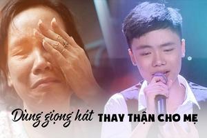 Cậu bé 'Giọng hát Việt nhí' ước mơ dùng giọng hát kiếm tiền thay thận cho mẹ
