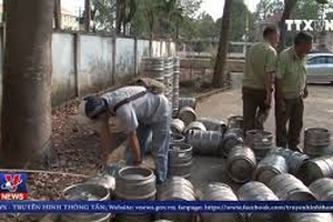 Bình Phước thu giữ gần 1500 lít bia hơi không rõ nguồn gốc