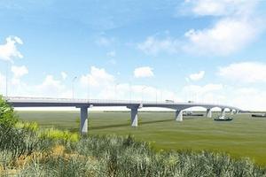 Bộ trưởng Bộ GTVT  dự Lễ ra quân xây dựng cầu Cửa Hội bắc qua sông Lam