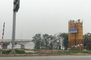 Phú Thọ: Trạm trộn bê tông hoạt động không phép?