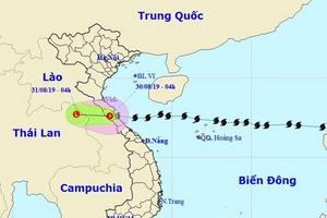 Bão số 4 suy yếu, Bắc Bộ và Trung Bộ tiếp tục mưa lớn