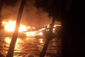 Tàu cá hơn 9 tỷ đồng bị thiêu rụi trong đêm