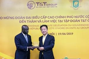Bộ trưởng Ngoại giao Cộng hòa Bờ Biển Ngà thăm và làm việc tại T&T Group