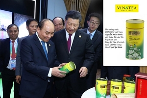 Trà Vinatea – Sản phẩm thương hiệu quốc gia được giới thiệu ở Hội chợ Nhập khẩu quốc tế 2018