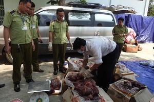 Quảng Bình: Bắt giữ gần 300kg nội tạng hôi thối