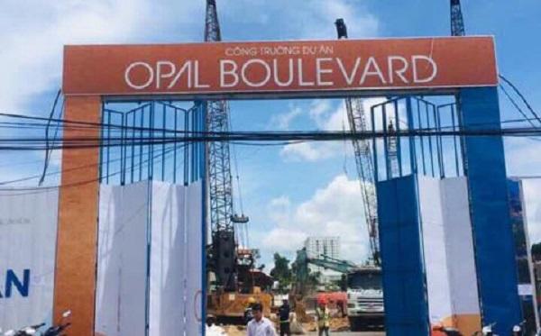 Thực chất dự án Opal Boulevard do Tập đoàn Đất Xanh làm chủ đầu tư.