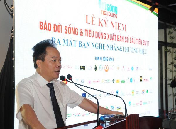 Ông Nguyễn Quốc Hùng - Tổng Biên tập Báo Đời sống & Tiêu dùng phát biểu khai mạc