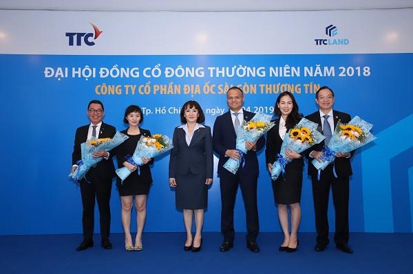 Ông Nguyễn Đăng Thanh, Chủ tịch HĐQT kiêm Tổng Giám đốc TTC Land. (Người thứ 4 từ trái sáng phải).