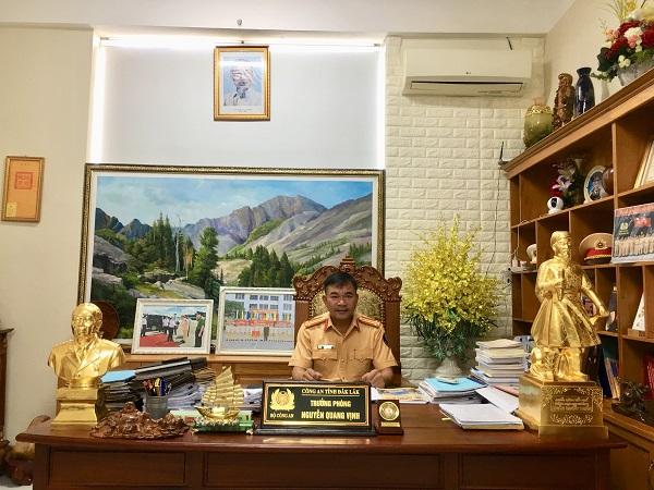 Trung tá Nguyễn Quang Vịnh - Trưởng phòng PC08 Công an tỉnh Đắk Lắk.
