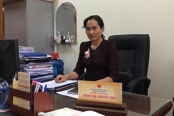 Bà Đặng Thị Nguyệt Hoa - Chánh Thanh tra UBND huyện Ba Vì.
