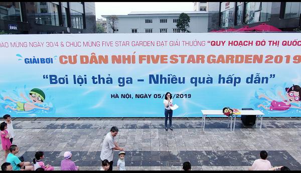"""Khai mạc Giải bơi Cư dân """"nhí"""" Five Star Garden 2019"""