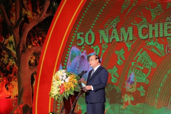 Thủ tướng Nguyễn Xuân Phúc, phát biểu tại buổi lễ kỷ niệm 50 năm chiến thắng Truông Bồn