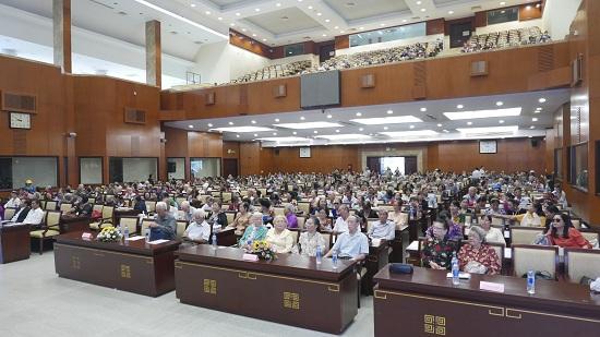 Sự kiện đã thu hút số lượng lớn người cao tuổi tới tham dự