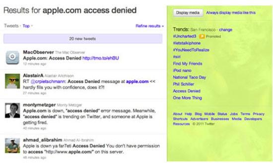 Trang web của Apple bị sập sau màn ra mắt iPhone 4S