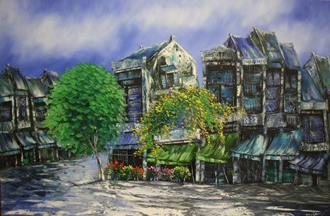 Oil painting - Old Quater