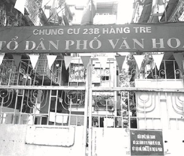Khu chung cư 23B Hàng Tre nơi có 2 căn hộ 203 và 204 thuộc quyền sở hữu chung, bà Nguyễn Thị Kim Thanh đang rao bán