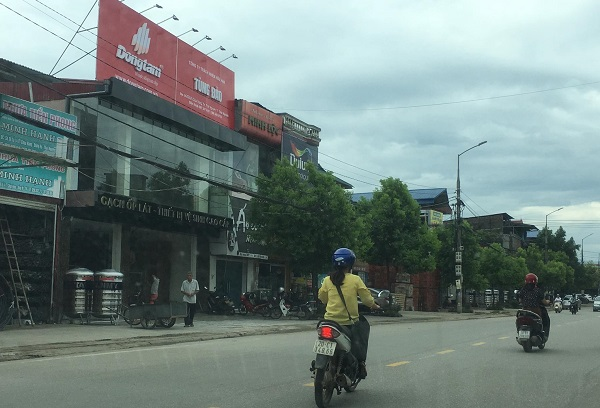 Công trình xây dựng sai phạm của hộ gia đình bà Nguyễn Thị Kim Hoa