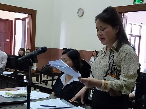 Bà Chu Thị Bình phát biểu tại phiên tòa phúc thẩm
