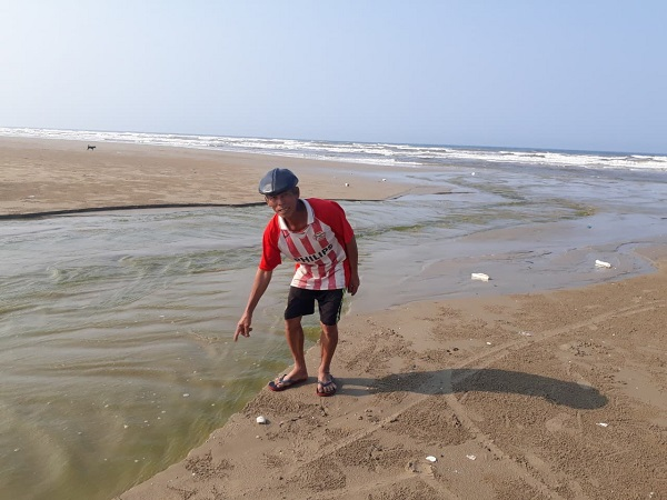 Nước thải từ hồ tôm xả trực tiếp ra biển, gây ô nhiễm nguồn nước