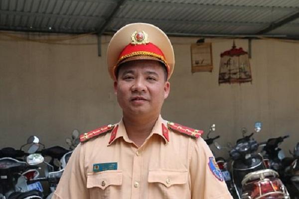 Đại úy Trần Quang Chinh - Phó Đội trưởng CSGT số 6 (Phòng PC08 – CATP Hà Nội)